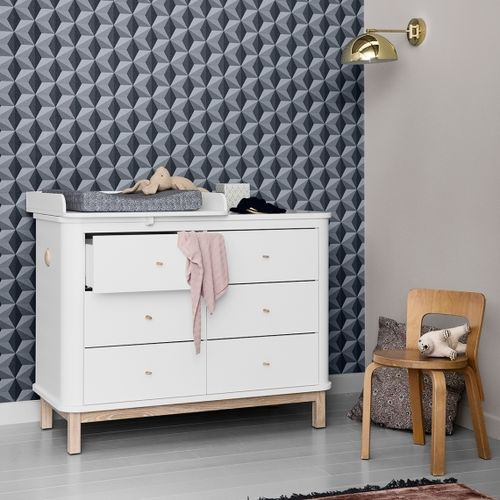 Wood Collection Dresser inclusief Nursery Top small