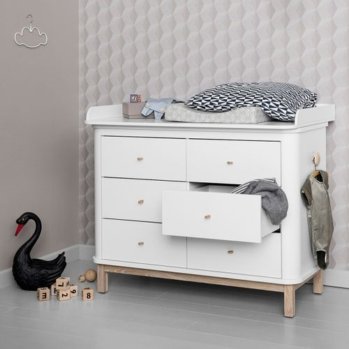 Wood Collection Dresser inclusief Nursery Top large