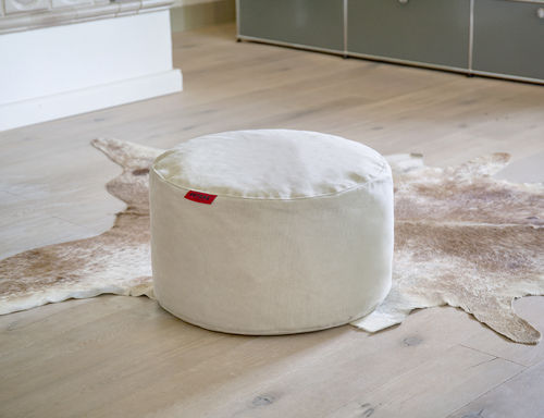 Poof, footstool of bijzettafel Rock in Canvas - 2 kleuren