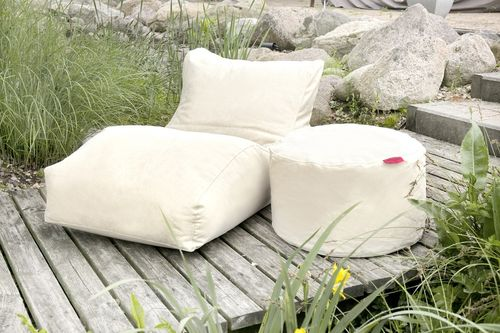 Lounger Outbag Wave in stoere stonewashed canvas